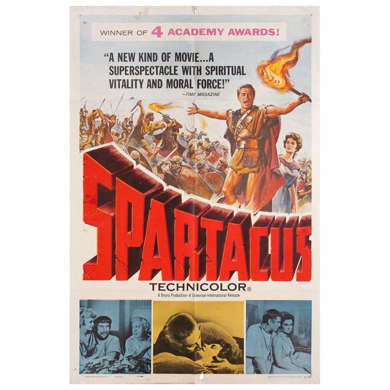 Spartacus 1961 U.S. One Sheet Film Poster
