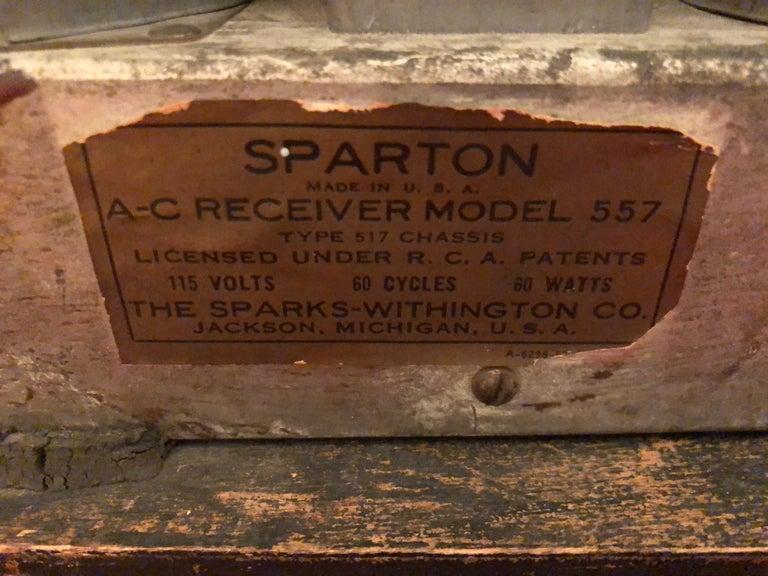 Sparton Blue Mirror Radio 1936 Art Deco Walter Dorwin Teague Model 557 For Sale 5