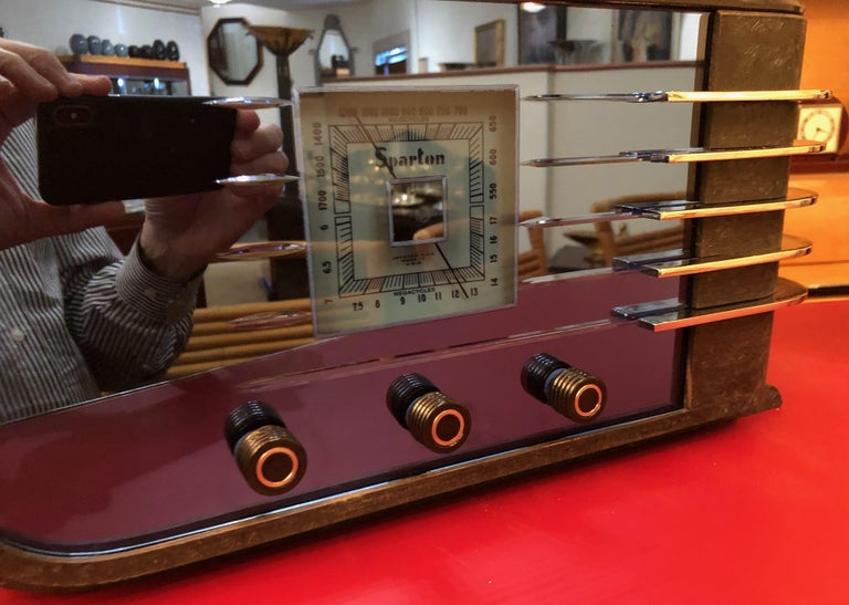 Sparton Blue Mirror Radio 1936 Art Deco Walter Dorwin Teague Model 557 For Sale 1