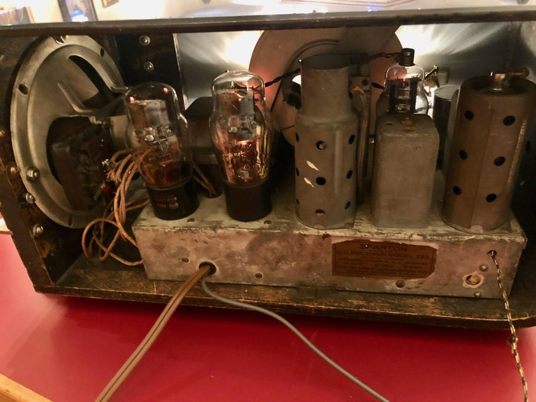 Sparton Blue Mirror Radio 1936 Art Deco Walter Dorwin Teague Model 557 For Sale 4