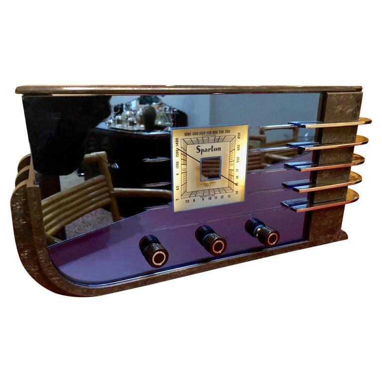 Sparton Blue Mirror Radio 1936 Art Deco Walter Dorwin Teague Model 557 For Sale