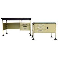 Spazio Desk and Side Desk by Bbpr Studio for Olivetti, Italy, 1962