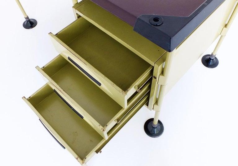 Spazio Desk and Side Desk by Bbpr Studio for Olivetti, Italy, 1962 For Sale 5