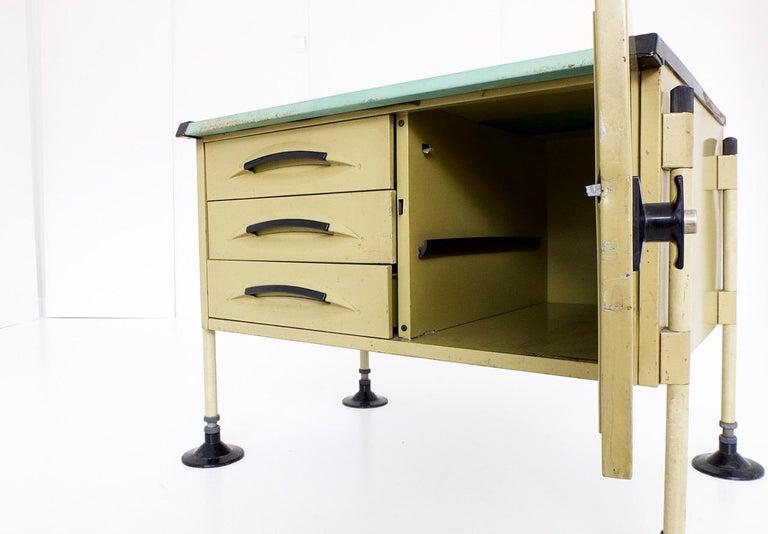 Spazio Desk and Side Desk by Bbpr Studio for Olivetti, Italy, 1962 For Sale 13