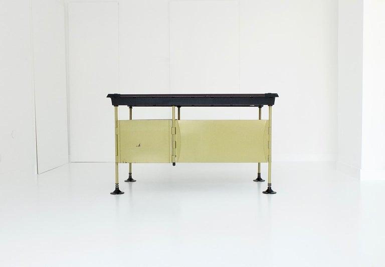 Metal Spazio Desk and Side Desk by Bbpr Studio for Olivetti, Italy, 1962 For Sale