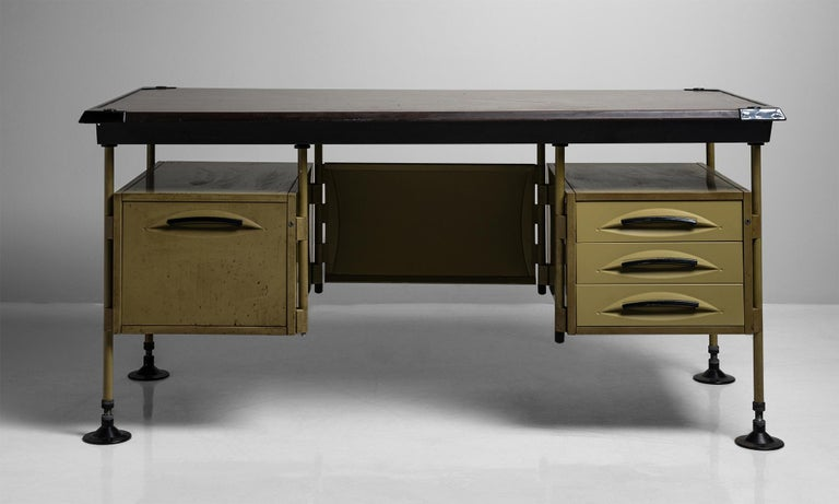 Laminated Spazio Modernista Desk by Studio BBPR, Italy, 1959 For Sale