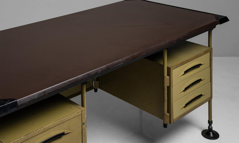 Mid-20th Century Spazio Modernista Desk by Studio BBPR, Italy, 1959 For Sale