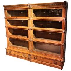 Special Antique Globe Wernicke Bookcase