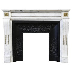 Special Antique Mantle in Style of Louis XVI from the 19th Century, Ormolu Mount