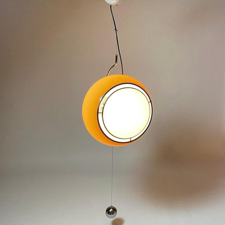 Special Ceiling Light by Harvey Guzzini, Italy, 1974 For Sale 3