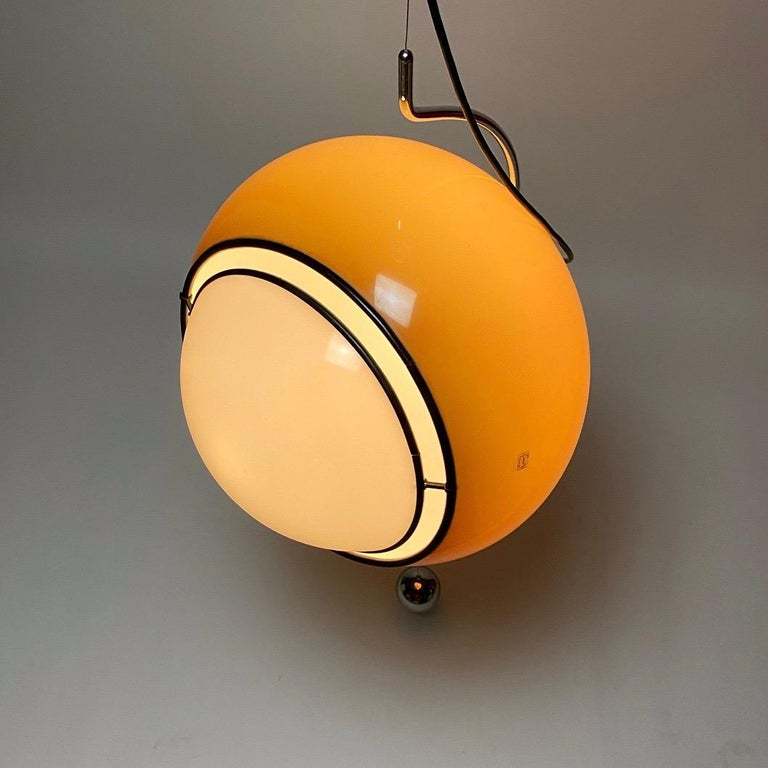 Special Ceiling Light by Harvey Guzzini, Italy, 1974 For Sale 4