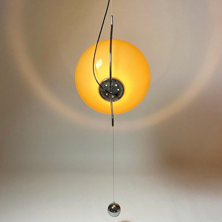 Special Ceiling Light by Harvey Guzzini, Italy, 1974 For Sale 5