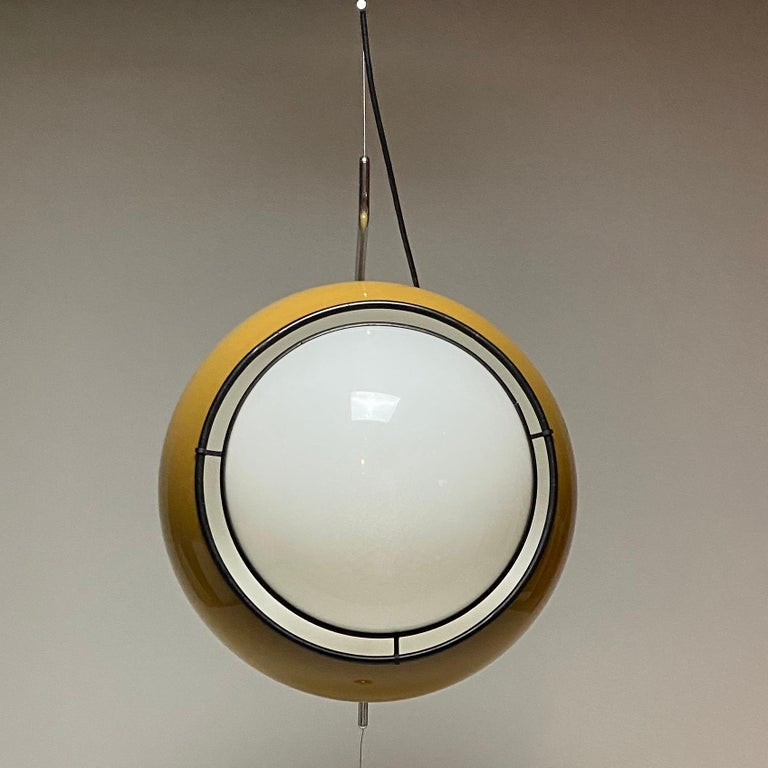 Chrome Special Ceiling Light by Harvey Guzzini, Italy, 1974 For Sale