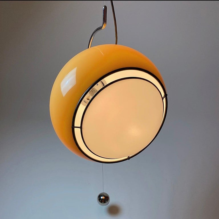 Special Ceiling Light by Harvey Guzzini, Italy, 1974 For Sale 2