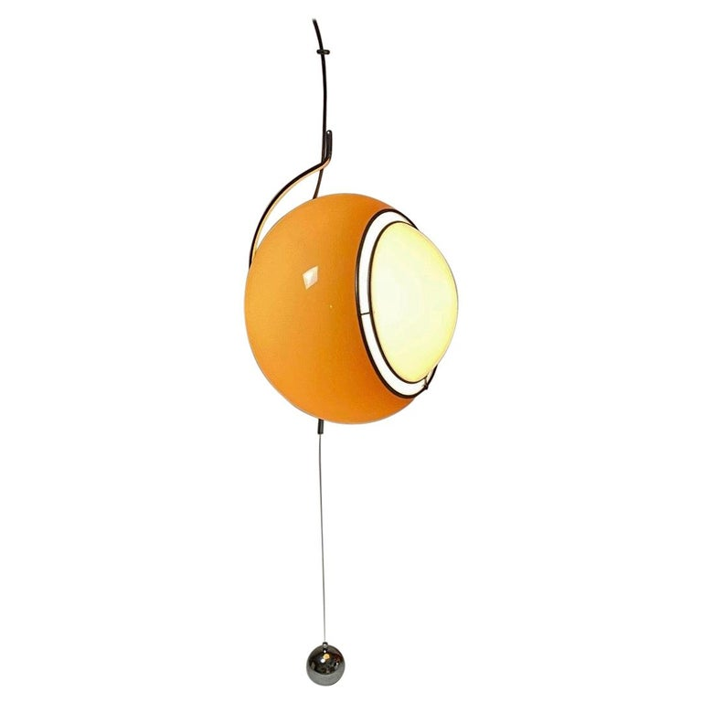 Special Ceiling Light by Harvey Guzzini, Italy, 1974 For Sale