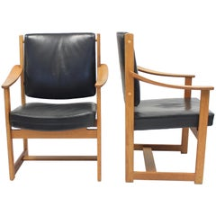 Special Commission Armchairs by Sven Kai Larsen for NK, 1960s, Set of Two