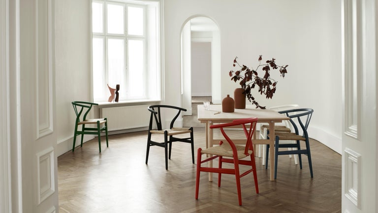 CH24 Wishbone Chair in Soft Colors by Hans J. Wegner For Sale 18