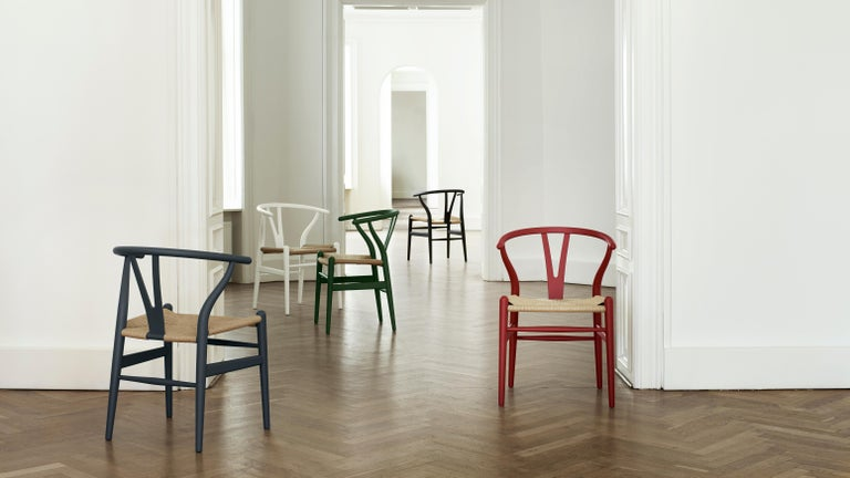 CH24 Wishbone Chair in Soft Colors by Hans J. Wegner For Sale 27