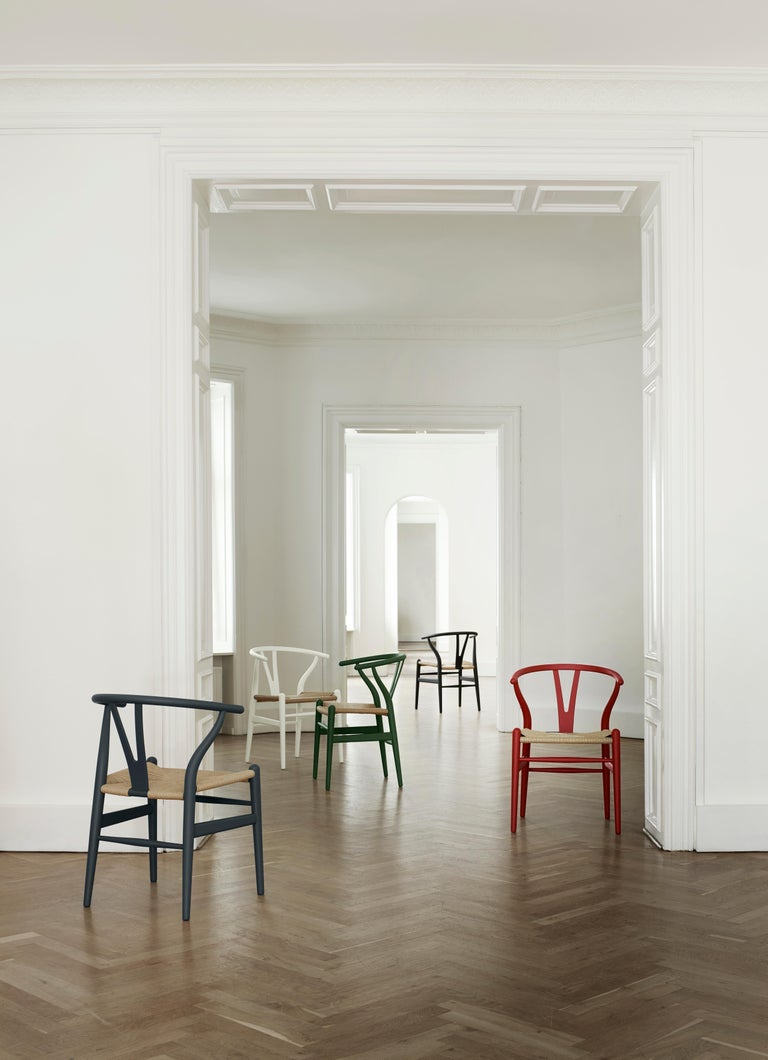 CH24 Wishbone Chair in Soft Colors by Hans J. Wegner For Sale 28