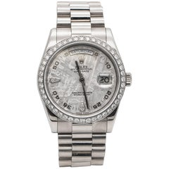 Special Edition Meteorite Rolex Oyster Perpetual Day-Date 46 Factory Diamonds
