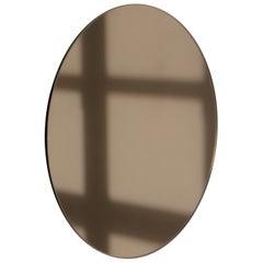 Special Entry Ezgi - Bronze Tinted Orbis™ Round Mirror Frameless Oversized-Extra
