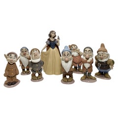 Special Lladro Snow White and the Seven Dwarfs Limited Edition Signed Figurines