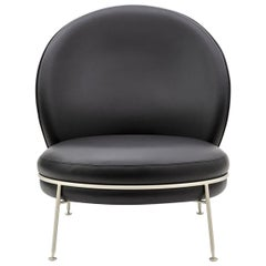 Special Price Dispaly Armchair Black Leather Visible Zipper Champagne