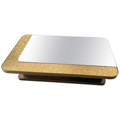 Special Price Display Bronze Finish Coffee Table Top Mirror & Decorative Mosaic