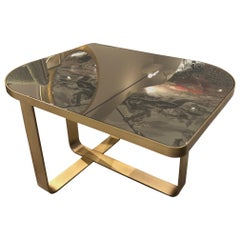 Special Price Display Coffe Table Metal Frame Distressed Paint Finish Top Mirror