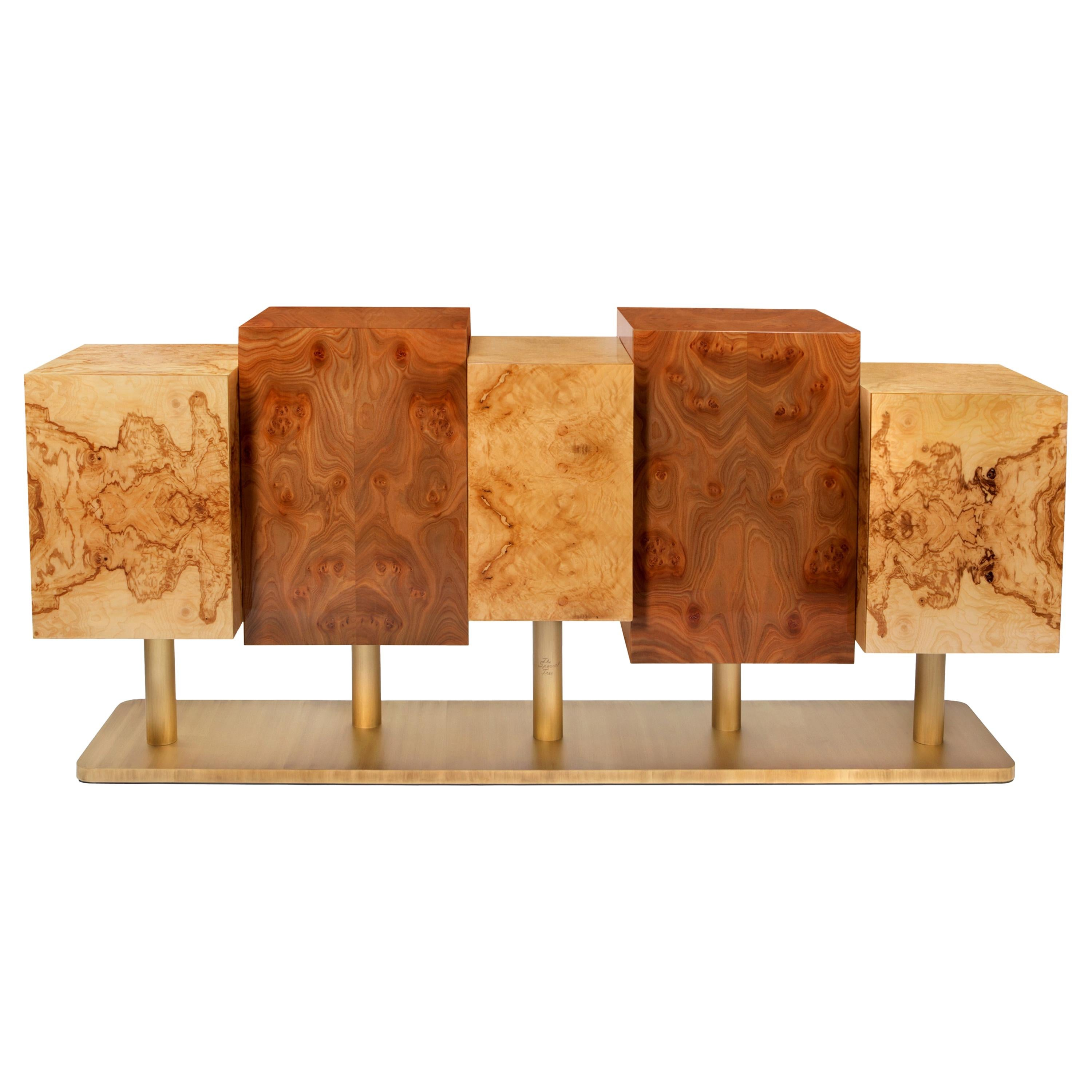 The Special Tree Sideboard, Wood and Brass, InsidherLand by Joana Santos Barbosa