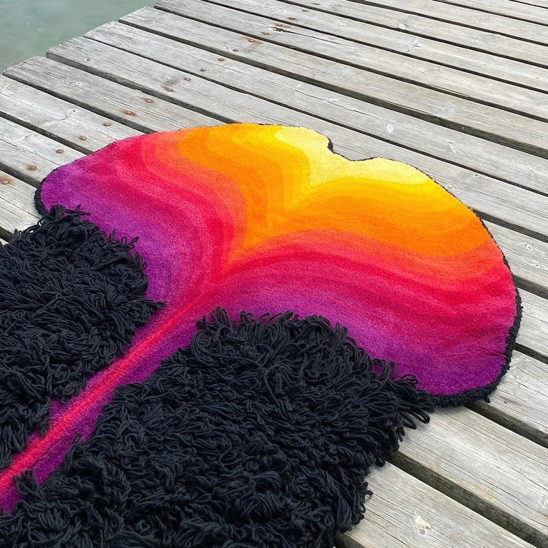 Space Age Special Vibrant Rug in Style of Ewald Kröner, Germany, 1970s For Sale