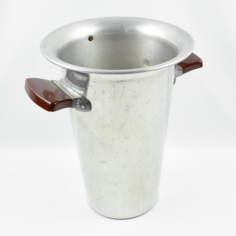 Mid 20th Century Special White Wine Aluminum Ice Bucket Cooler For