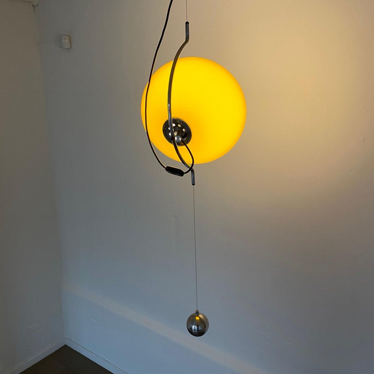 Italian Special Yellow Ceiling Light by Harvey Guzzini, Italy, 1974 For Sale