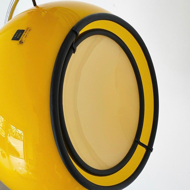 Special Yellow Ceiling Light by Harvey Guzzini, Italy, 1974 In Good Condition For Sale In Haderslev, DK