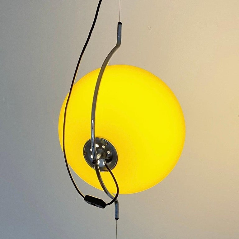 Late 20th Century Special Yellow Ceiling Light by Harvey Guzzini, Italy, 1974 For Sale