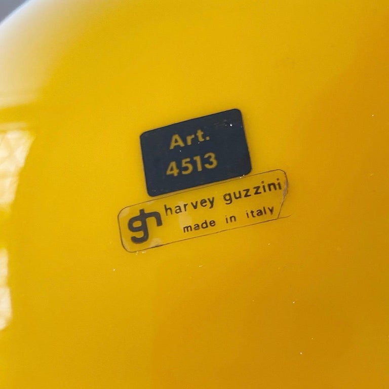 Chrome Special Yellow Ceiling Light by Harvey Guzzini, Italy, 1974 For Sale