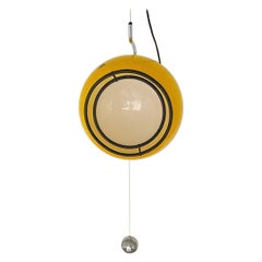 Special Yellow Ceiling Light by Harvey Guzzini, Italy, 1974