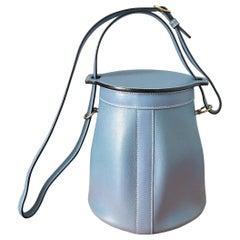SPECIAL:2005 Hermes Sac Farming Blue Jean Veau Epsom Leather Bag w/Dust Bag