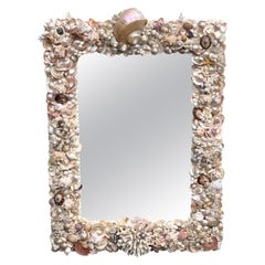 Specimen Shell and Coral Encrusted Mirror Attributed to Anthony Redmile