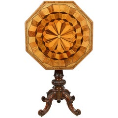 Specimen Wood Table, circa 19th Century
