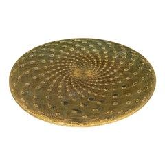 Speckled Gold Glass Platter, Brazil, Contemporary