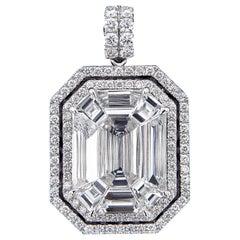 Spectacular 18 Karat White Gold and Diamond Pendant