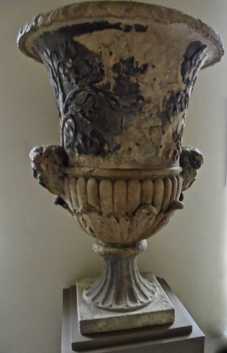 Limestone Spectacular 18th Century Carved French Garden Vase For Sale