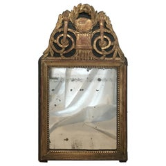Spectacular 18th Century Carved Giltwood French Mirror