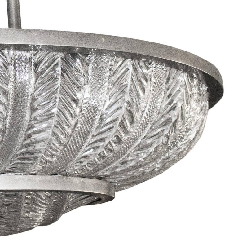 Art Deco Spectacular 1930s Oval Plafonnier by Barovier & Toso For Sale