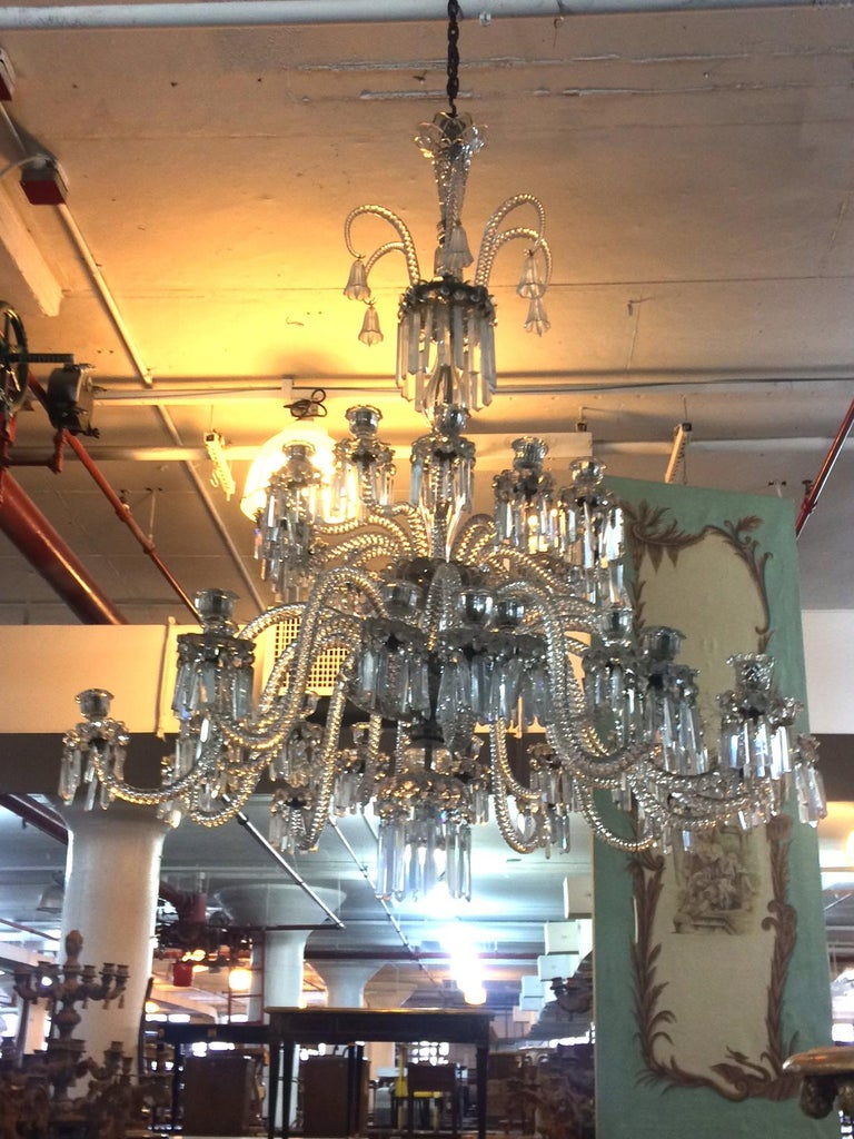 Spectacular 19th c. Crystal Chandelier by Osler In Good Condition For Sale In New York, NY