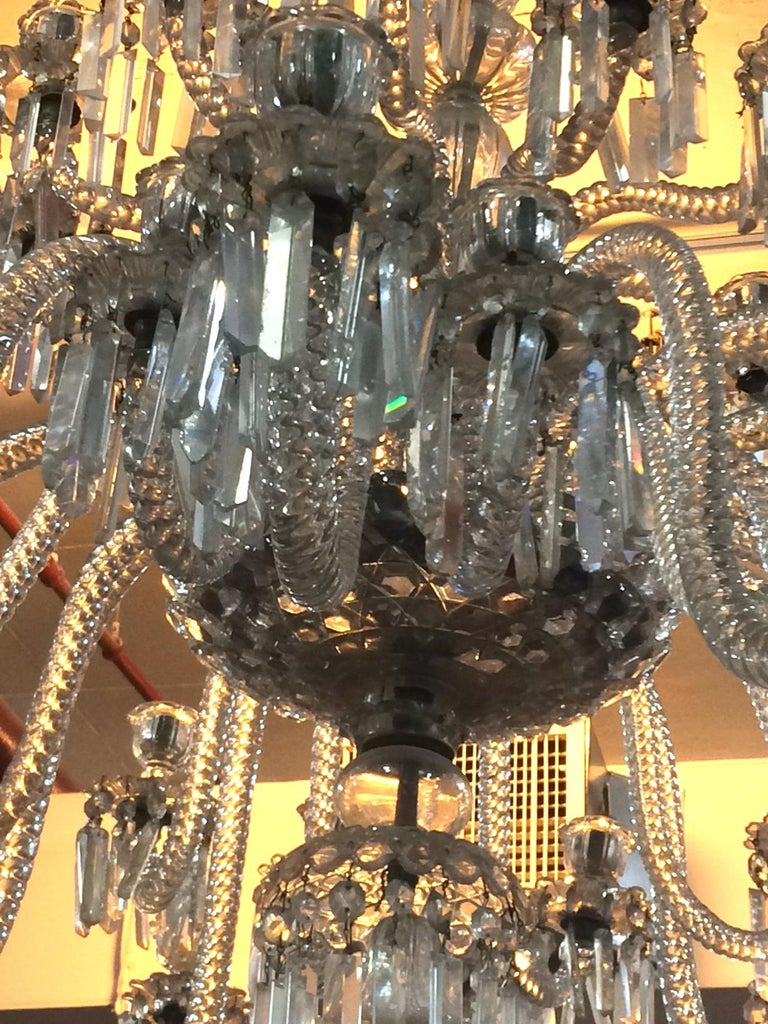 Spectacular 19th c. Crystal Chandelier by Osler For Sale 1