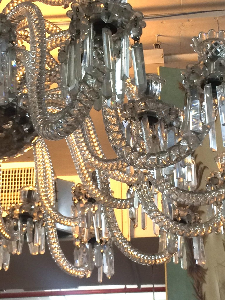 19th Century Spectacular 19th c. Crystal Chandelier by Osler For Sale