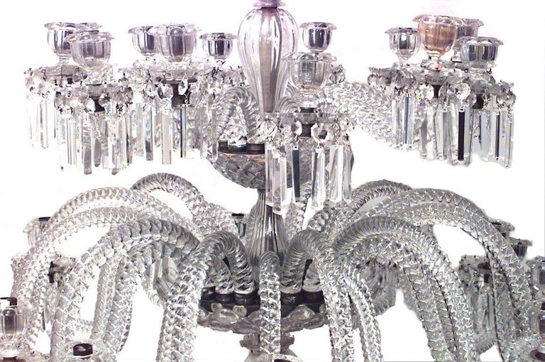 Neoclassical Spectacular 19th c. Crystal Chandelier by Osler For Sale