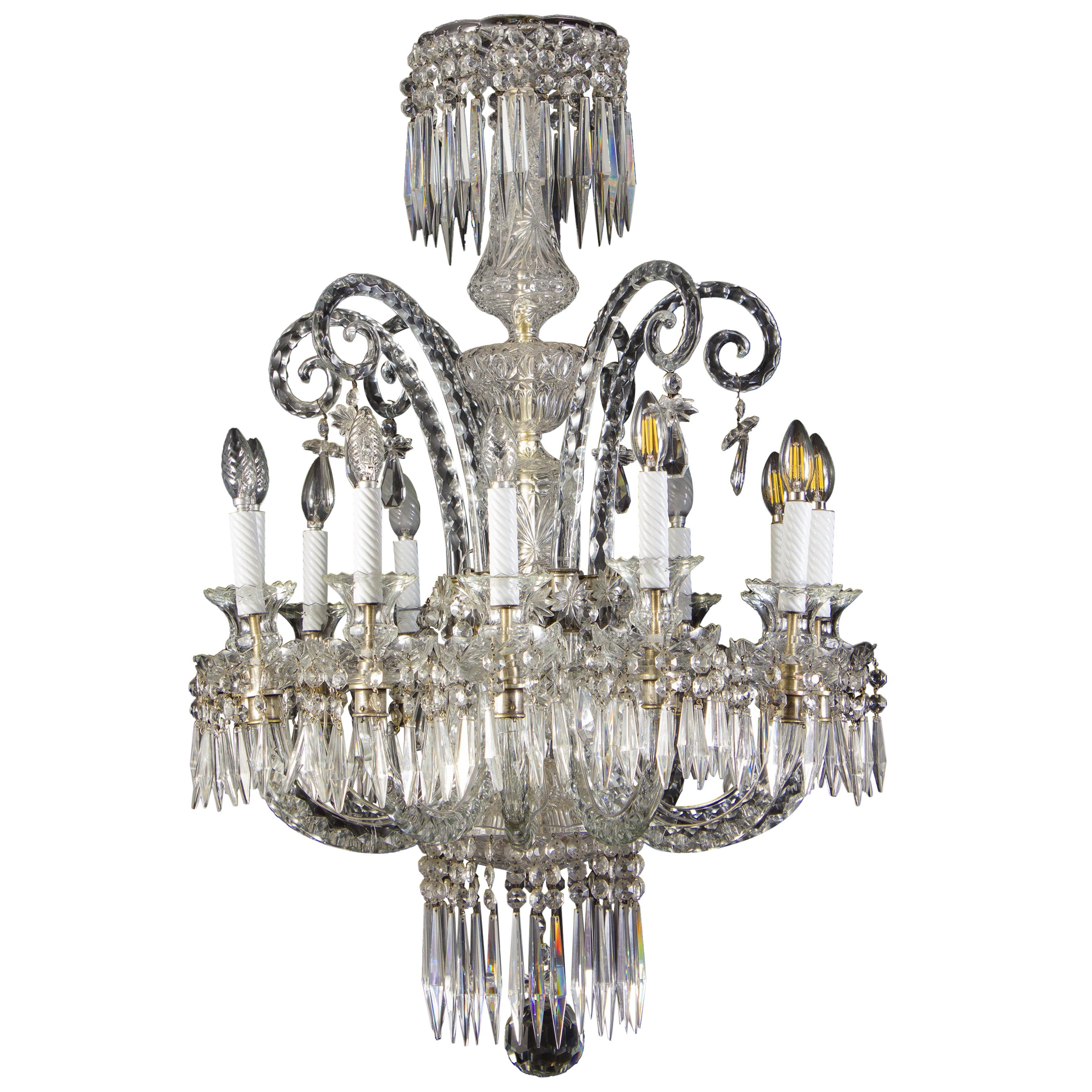 Spectacular 19th Century French Crystal Chandelier, 1880s